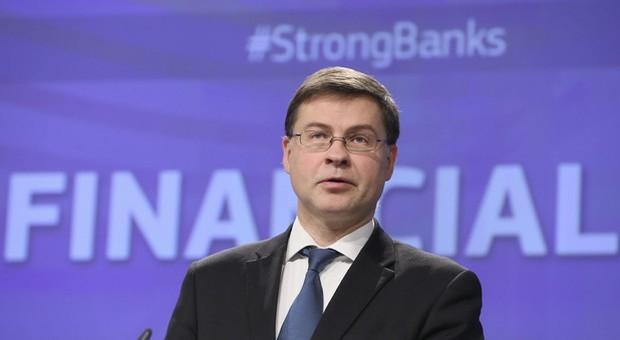 Dombrovskis, servono 1.500 miliardi, anche con bond in comune