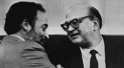 Bettino Craxi e Ottaviano Del Turco