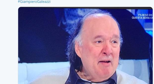 Giampiero Galeazzi in sedia a rotelle ospite da Mara Venier