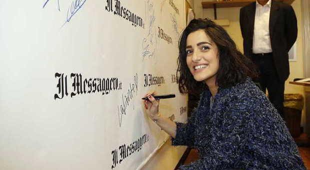 Levante nella redazione del Messaggero (Foto Stanisci - Toiati)