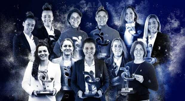Ronaldo e Cristiana Girelli sono i migliori della scorsa stagione. Premiati anche Gasperini, l'Atalanta e l'arbitro Orsato