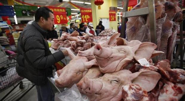 Cina, peste suina: il Governo mette all'asta 10mila tonnellate di carne di maiale surgelata