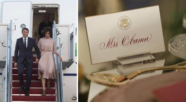 Renzi e Agnese negli Usa, stasera la cena da Obama: tutte le curiosità