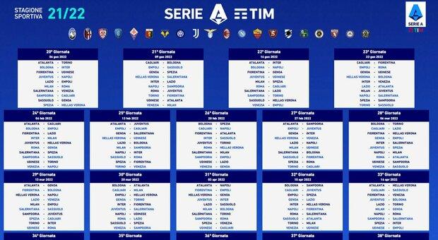 Calendario Serie A: tutte le partite della prossima stagione