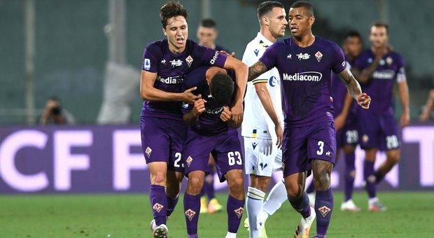 Il Verona domina ma non la chiude, 1-1 della Fiorentina all'ultimo assalto