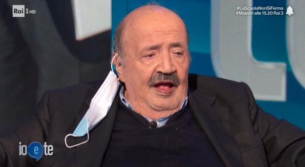 Maurizio Costanzo si commuove in diretta a Io e Te: «Vorrei riabbracciarli altrove...». Pierluigi Diaco reagisce così