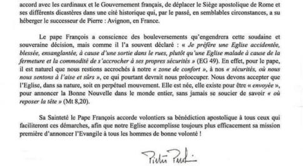 Papa Francesco vuole spostare la sede ad Avignone, ma è solo un pesce d'aprile
