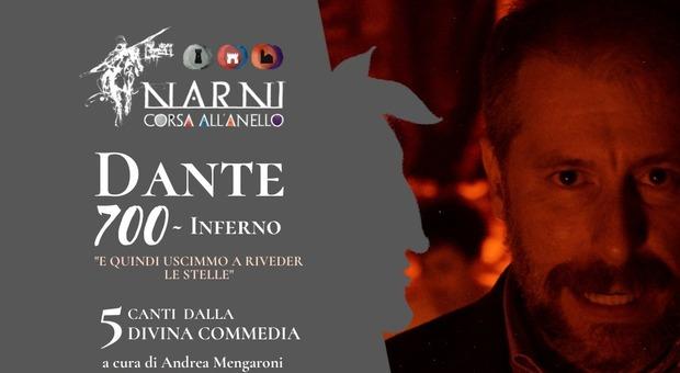 Narni dantesca: ecco lo spettacolo di Andrea Mengaroni «Dante 700 - Inferno» che trascina nella Narnia medievale