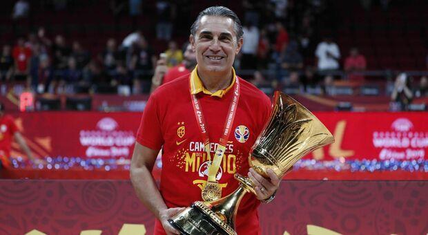 Basket, Scariolo premiato con la Palma d'oro come miglior allenatore: «Ho sempre sognato l'Nba»