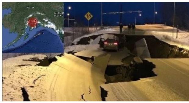 Terremoto in Alaska di 7.0, danni gravissimi alle strade: rientra l ...
