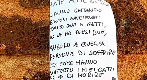 Il cartello comparso nel quartiere medievale di Orvieto