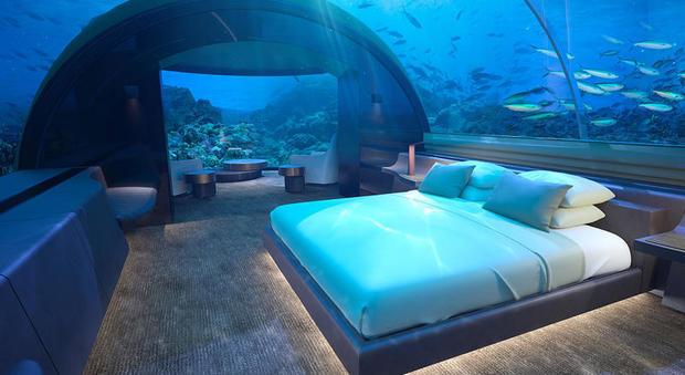 Una Camera Da Letto Da Sogno : Dormire sotto al mare delle maldive: ecco quanto costa il resort da