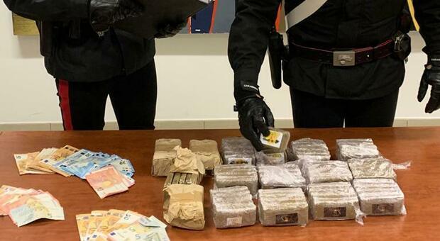 Operazione dei carabinieri ad Aprilia, 3 arresti e 8 chilogrammi di droga sequestrati