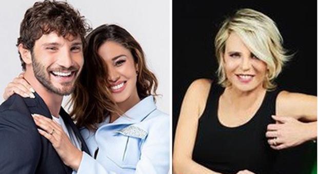 Stefano De Martino, Belen e Maria De Filippi (Instagram)