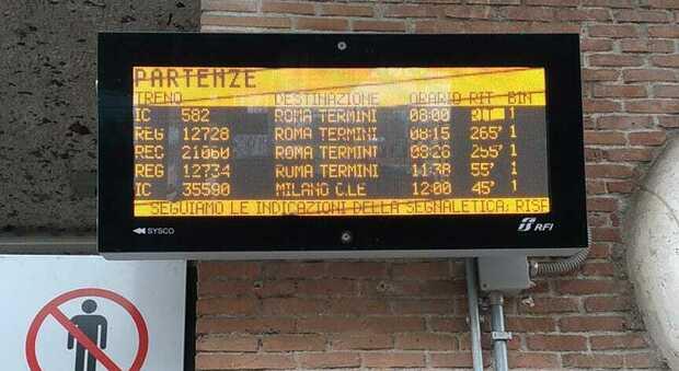 Guasto sulla linea ferroviaria, caos treni tra Roma e Formia
