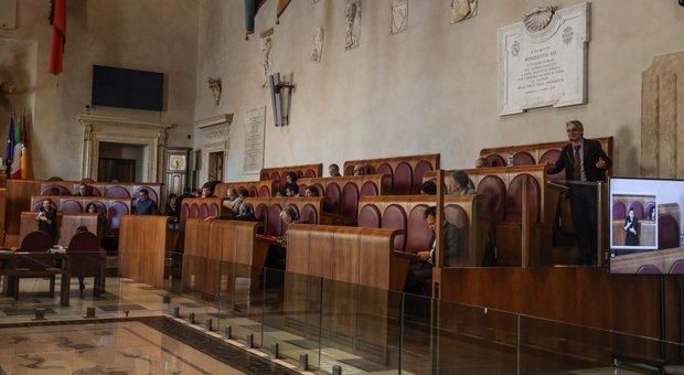 Aula Giulio Cesare senza pubblico