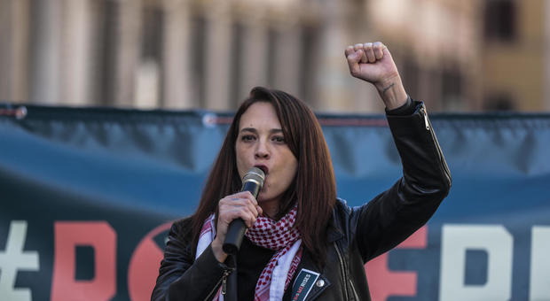 Asia Argento alla Women's March
