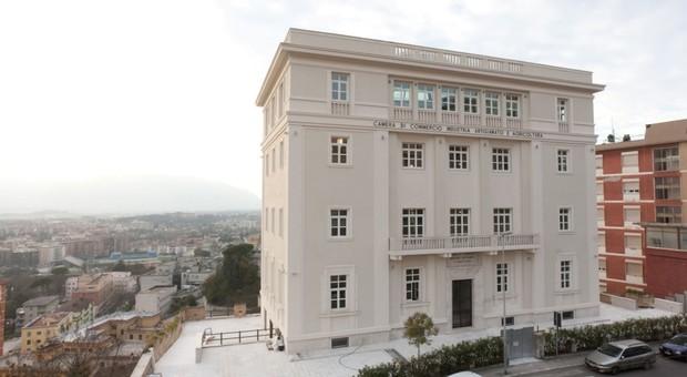 L'ex sede dell'Ater di Frosinone in via De Gasperi