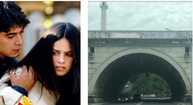 """Roma, """"Tre metri sopra il cielo"""" addio: il """"coprifuoco"""" cancella la scritta su Corso Francia"""