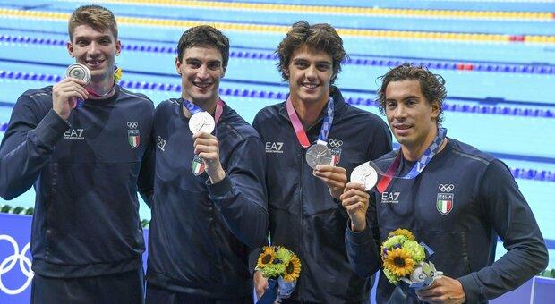 Staffetta 4X100 stile libero, medaglia d'argento alle Olimpiadi: «Scritta una pagina dello sport italiano»