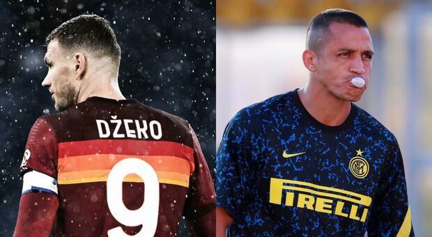 Roma e Inter distanti: lo scambio Dzeko-Sanchez si blocca