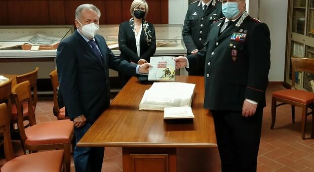"""Donato alla Biblioteca """"Paroniana"""" il volume """"La grande Guerra dei Carabinieri"""""""