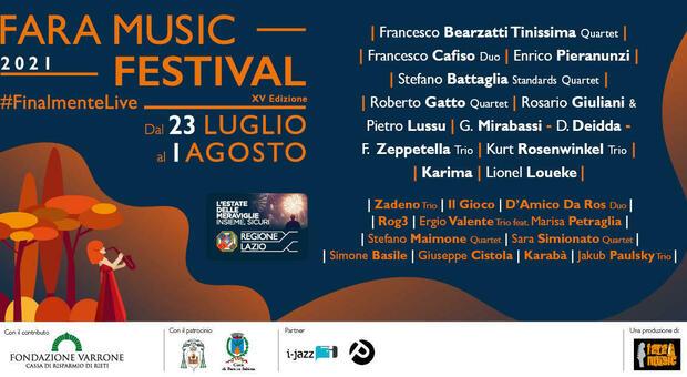 Fara Music Festival, la XV edizione torna live