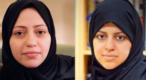 Samar Badawi (destra) e Nassima Al-Sada (sinistra)