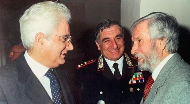 Ottavio Archidiacono (a destra) con Sergio Mattarella