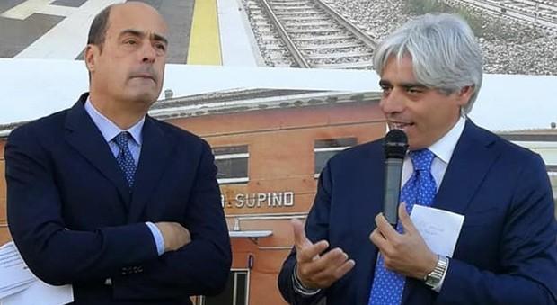 Nicola Zingaretti e Antonio Pompeo
