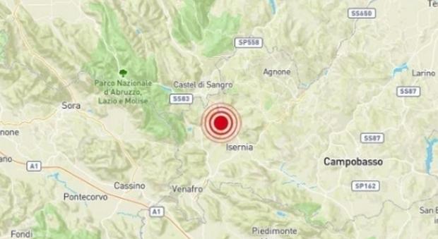 Scossa di terremoto nel casertano