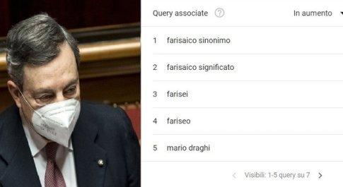 """Draghi e il """"farisaico"""" rispetto delle quote rosa: su Google è boom di ricerche"""