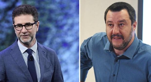 Fazio e Salvini, scontro social sugli immigrati del Cara