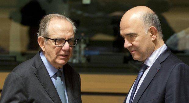 Il ministro Padoan con il commissario europeo Moscovici