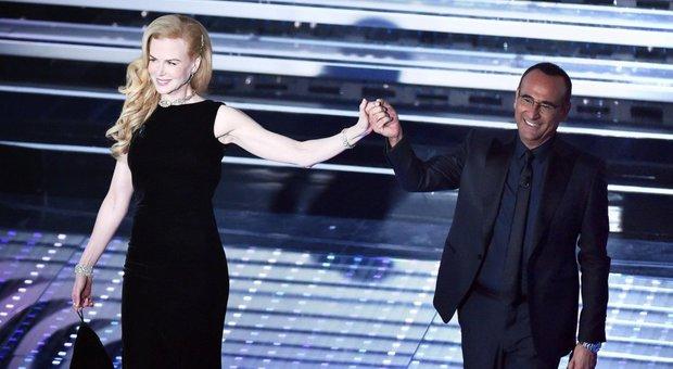 Sanremo, Nicole Kidman incanta: «Niente di più dolce dell'odore dei figli»