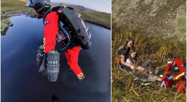 """Inghilterra, paramedico in jetpack raggiunge in 90 secondi il luogo dell'incidente. Il video del """"soccorso"""" diventa virale"""