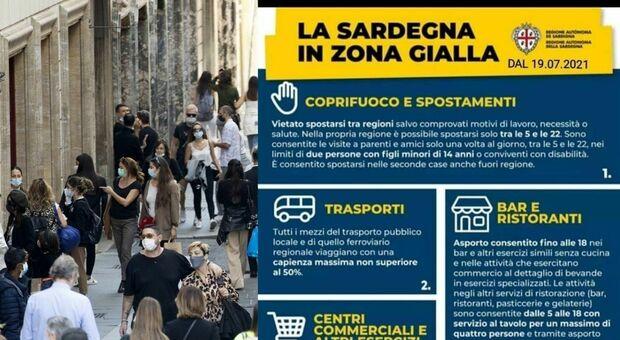 «Sardegna zona gialla da lunedì», ma il manifesto è fake: panico e confusione sui social