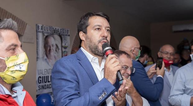 Rieti, visita privata e passeggiata a Rieti per Matteo Salvini e Francesca Verdini