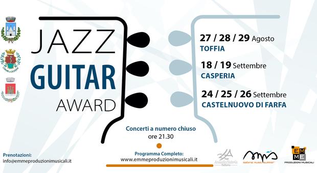 """Al via il """"Jazz Guitar Award"""", competizione internazionale di chitarra immersa nei borghi sabini"""