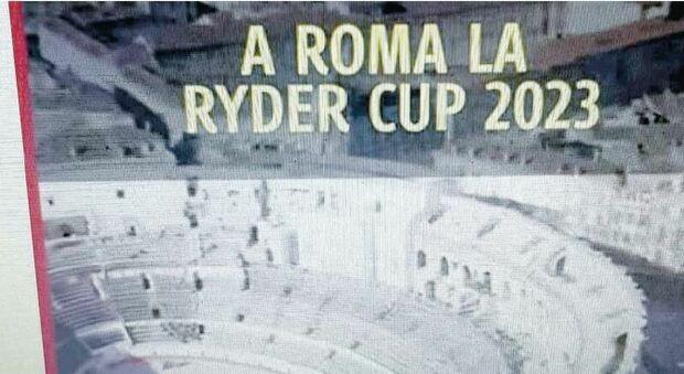 Roma, gaffe Campidoglio sul video della Ryder Cup: al posto del Colosseo c'è l'arena di Nimes