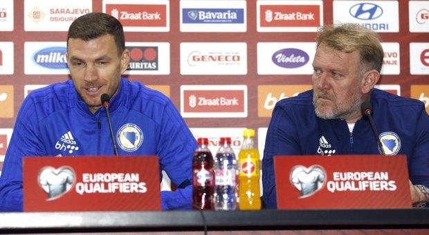 Edin Dzeko in conferenza stampa