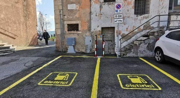 Anche a Castelnuovo di Farfa arriva il primo impianto pubblico di ricarica destinato ai veicoli elettrici