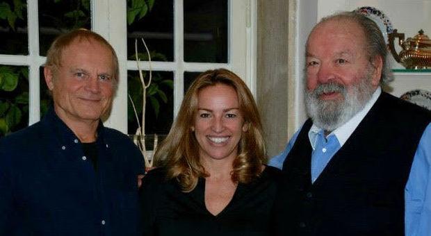 Bud Spencer con la figlia Cristiana e Terence Hill