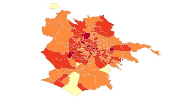 Covid, boom nel Lazio: +60,3% negli ultimi 7 giorni. La mappa del contagio a Roma: record a Torre Angela ed Esquilino