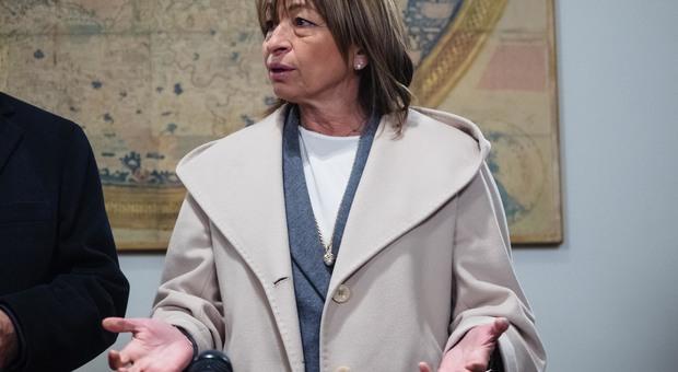La presidente Tesei