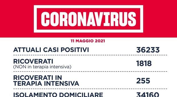 Covid Lazio, bollettino oggi 11 maggio: 635 casi (dato più basso in 7 mesi), 406 a Roma e 40 morti