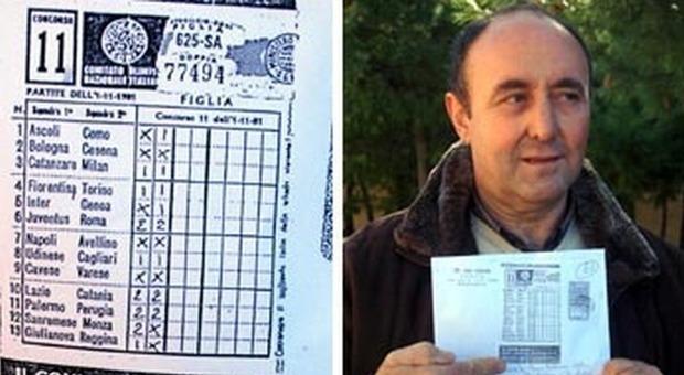 Totocalcio, dal 1981 cercava di incassare il 13 miliardario: muore a 67 anni