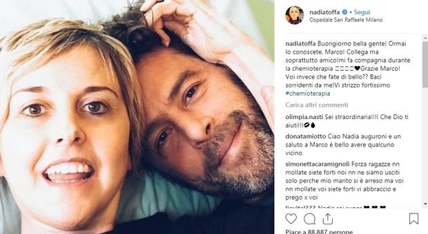 Nadia Toffa, ciclo di chemio al San Raffaele: «Lui è Marco, ormai lo conoscete»