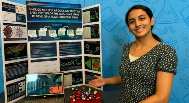 Covid, studentessa di 14 anni ha scoperto una possibile cura: «Ecco la molecola che inibisce il virus»