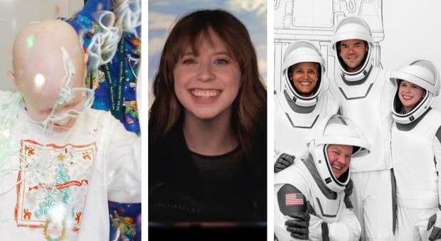 Inspiration4, Hawley vince il cancro e la premiano con la missione record di SpaceX di Elon Musk: 4 privati mai così in alto per 200 milioni di dollari Oggi diretta Live tv